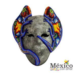 Máscara con Iguanas forradas de chaquira