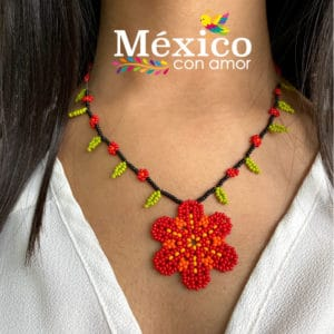 Collar de Flor Chaquira
