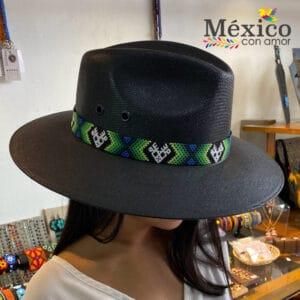 Sombrero Negro con Chaquira