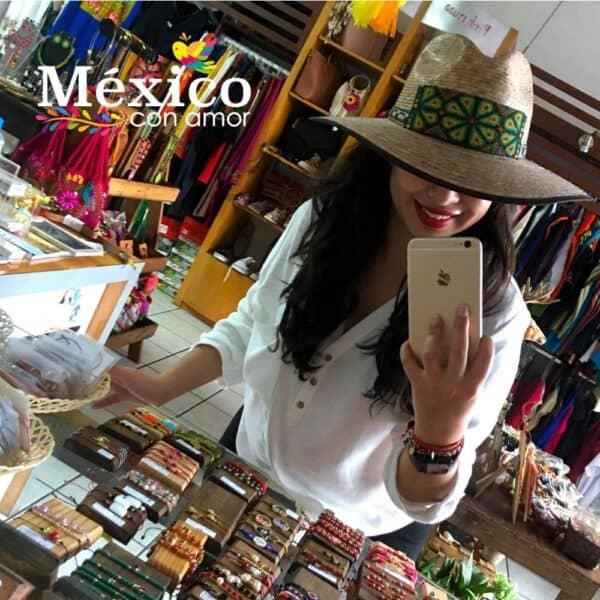 Sombrero de Paja con Chaquira